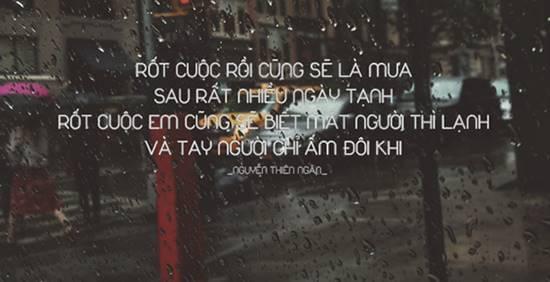 Stt mưa buồn